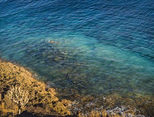 Mar siempre en calma. Fotografía de Ramón Pérez Niz.