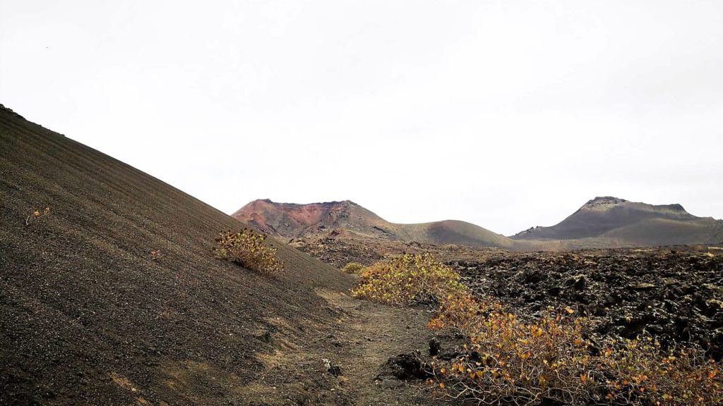 Recta final para llegar al Volcán de Santa Catalina Parque Natural de Los Volcanes